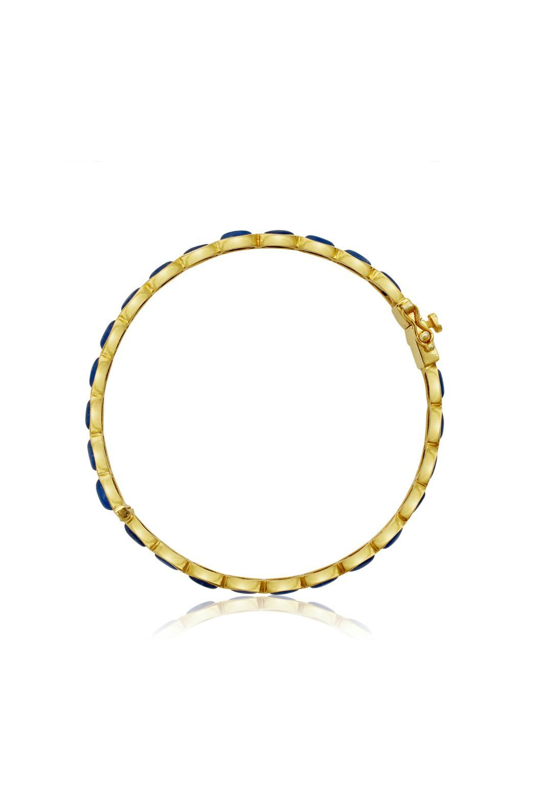 Passiana Sapphire Bangle Bracelet - Front Full Image