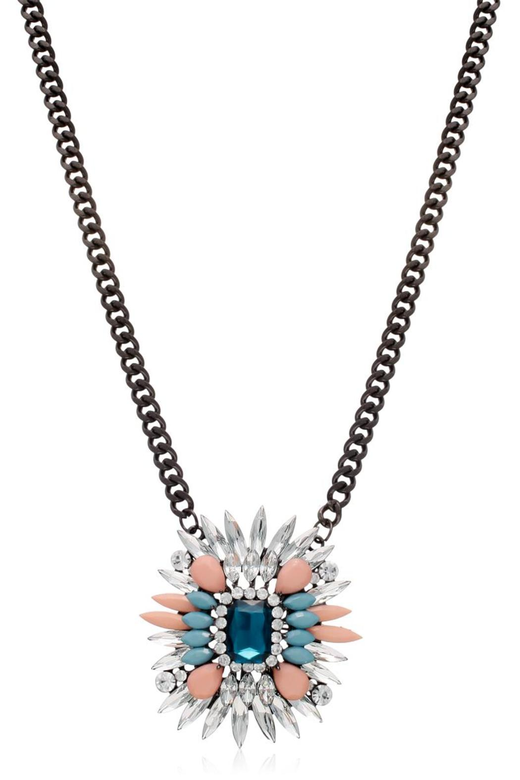 Passiana Sapphire Crystal Necklace - Front Full Image