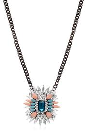 Passiana Sapphire Crystal Necklace - Front full body