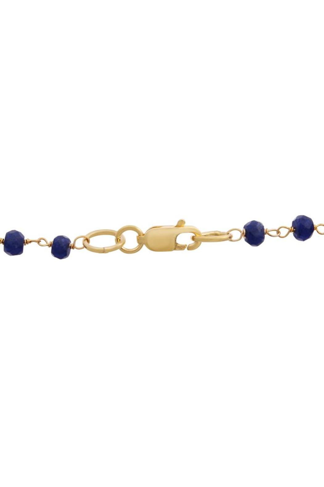 Passiana Sapphire Lariat Necklace - Side Cropped Image