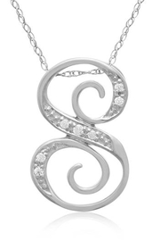 Passiana Script Diamond Necklace - Front cropped