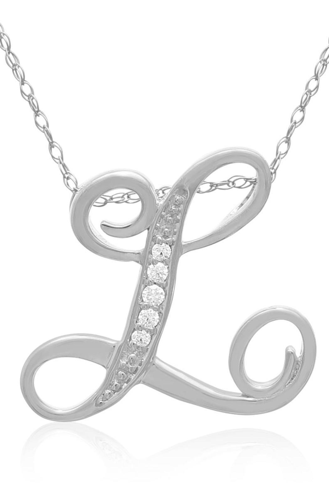 Passiana Script Diamond Necklace - Side Cropped Image