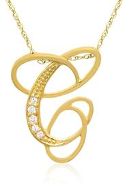 Passiana Script Initial Necklace - Other