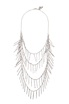 Passiana Silver Fringe Necklace - Product List Image