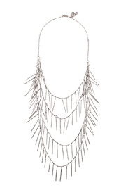 Passiana Silver Fringe Necklace - Front cropped