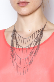 Passiana Silver Fringe Necklace - Back cropped
