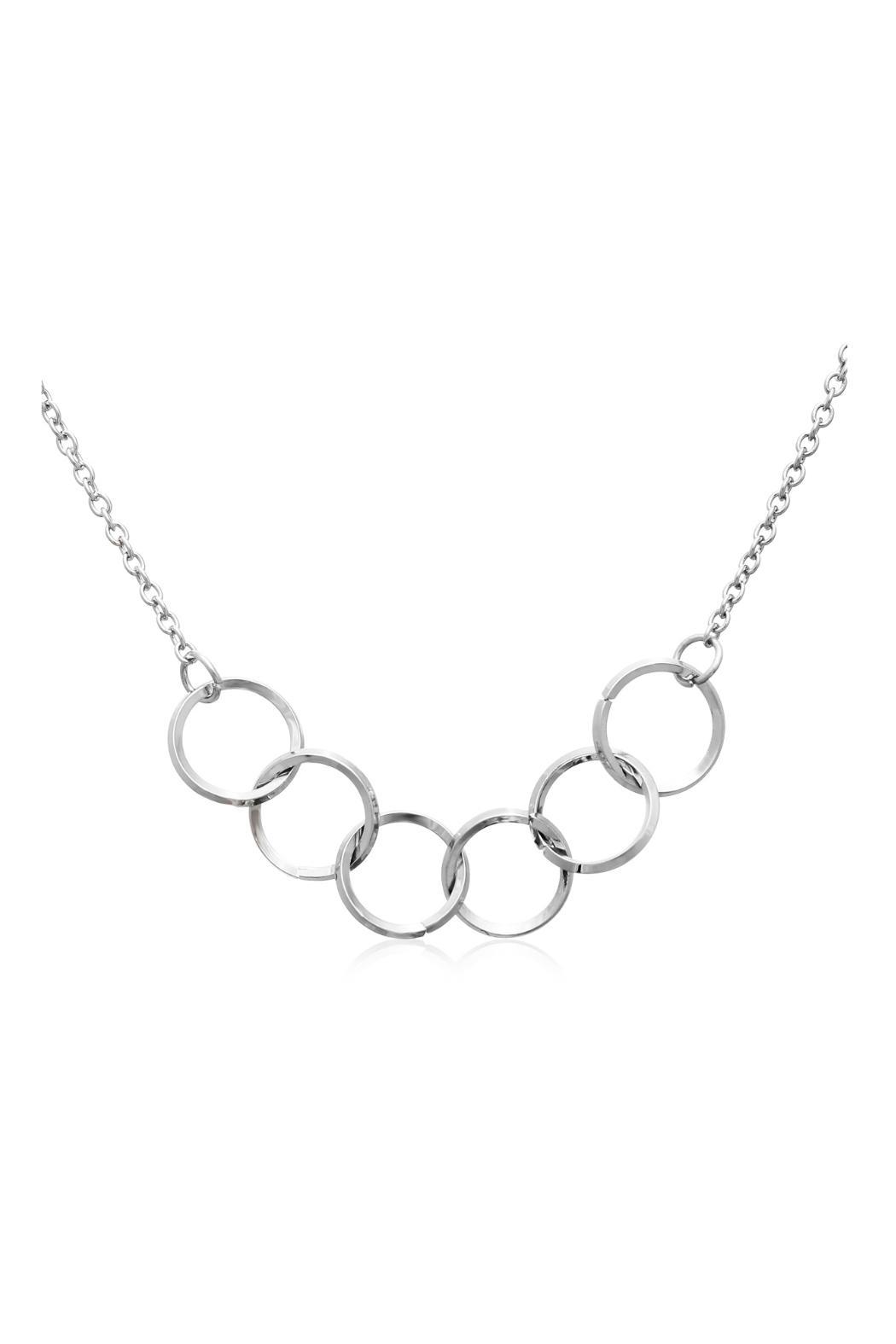 Passiana Silver Ring Necklace - Front Full Image