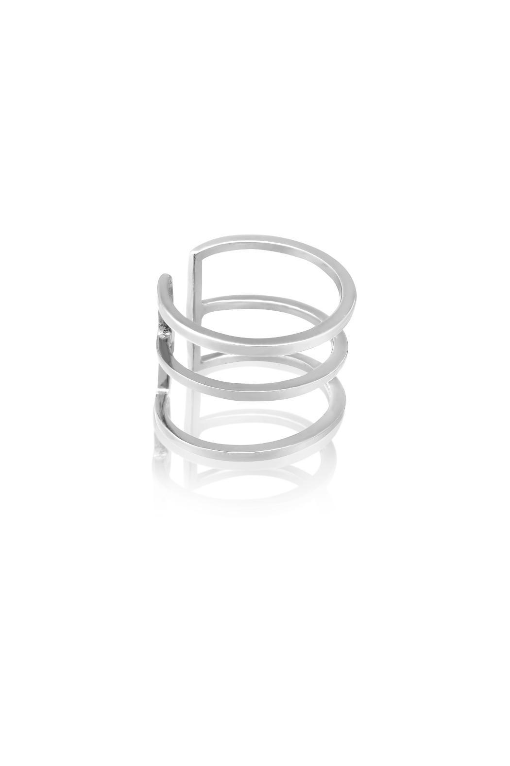 Passiana Silver Spacer Ring - Front Full Image