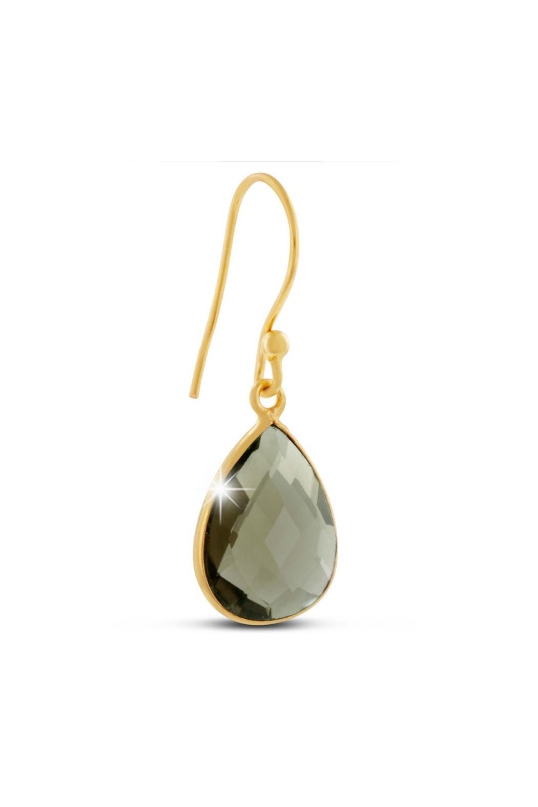 Passiana Smokey Quartz Earrings - Front Full Image
