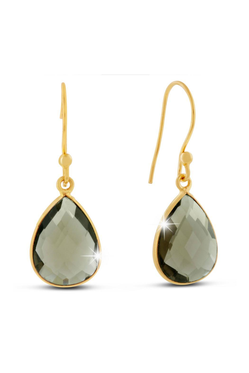 Passiana Smokey Quartz Earrings - Front Cropped Image
