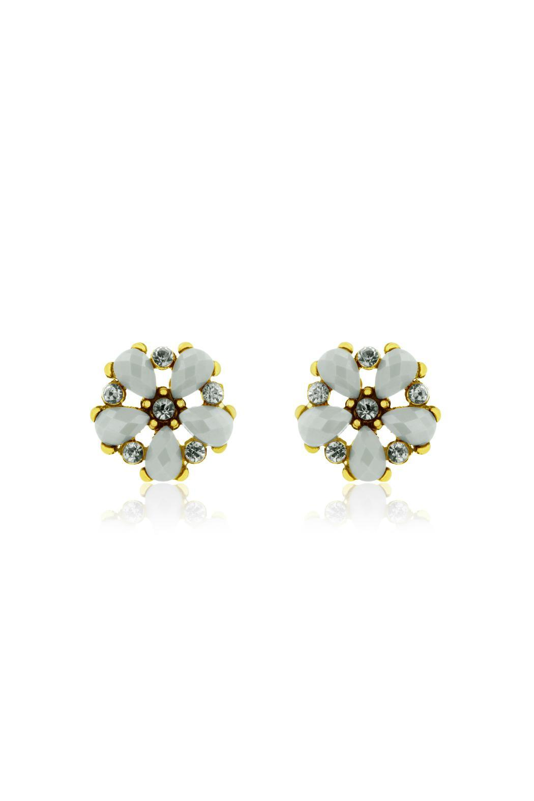 Passiana Snow White Studs - Front Cropped Image