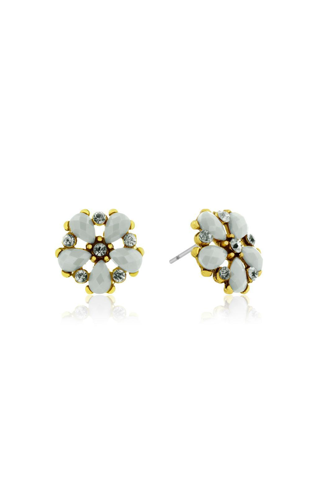Passiana Snow White Studs - Front Full Image