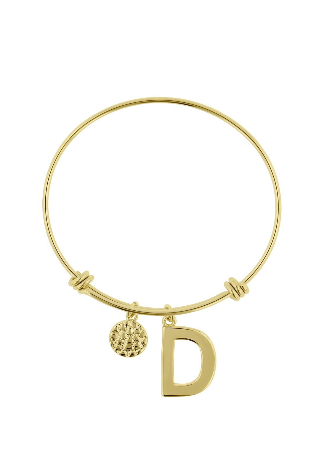Passiana Stackable Initial Bangle - Back Cropped Image