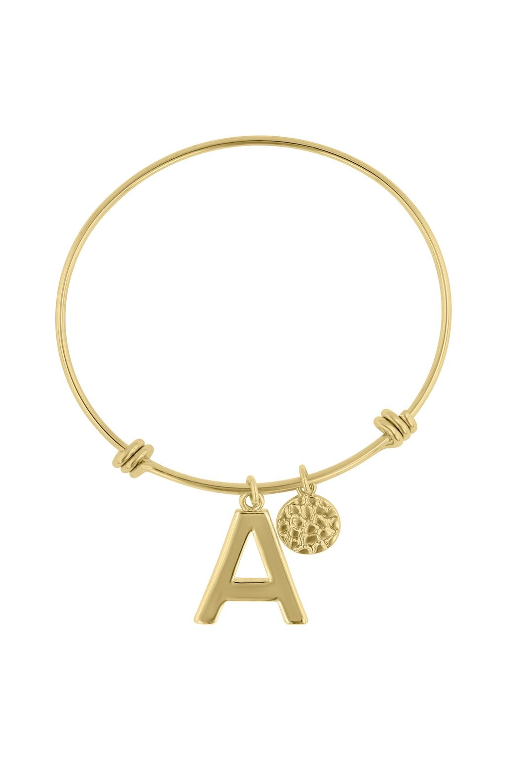 Passiana Stackable Initial Bangle - Front Cropped Image