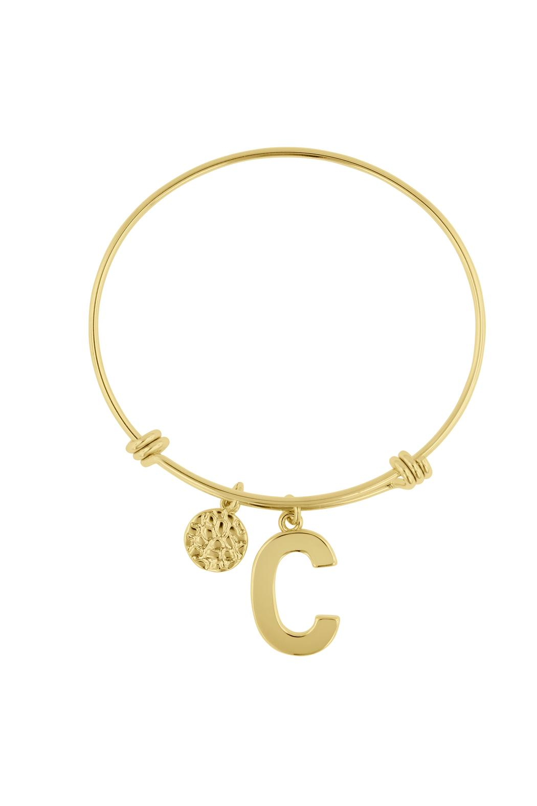 Passiana Stackable Initial Bangle - Side Cropped Image