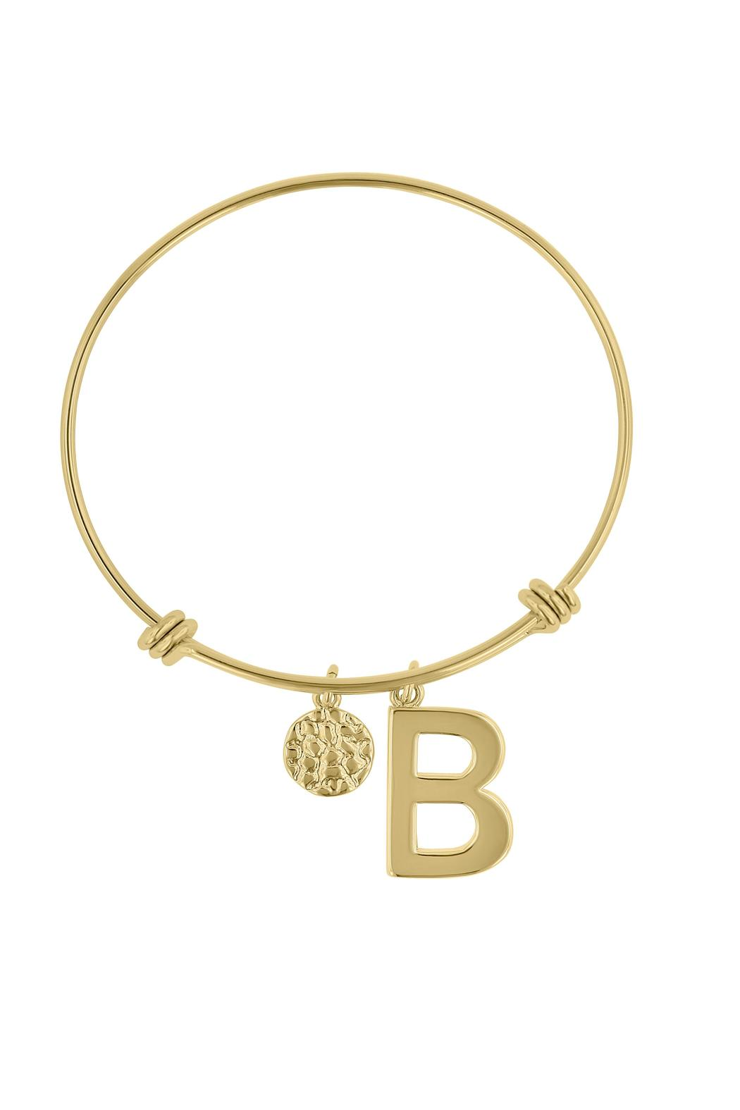 Passiana Stackable Initial Bangle - Front Full Image