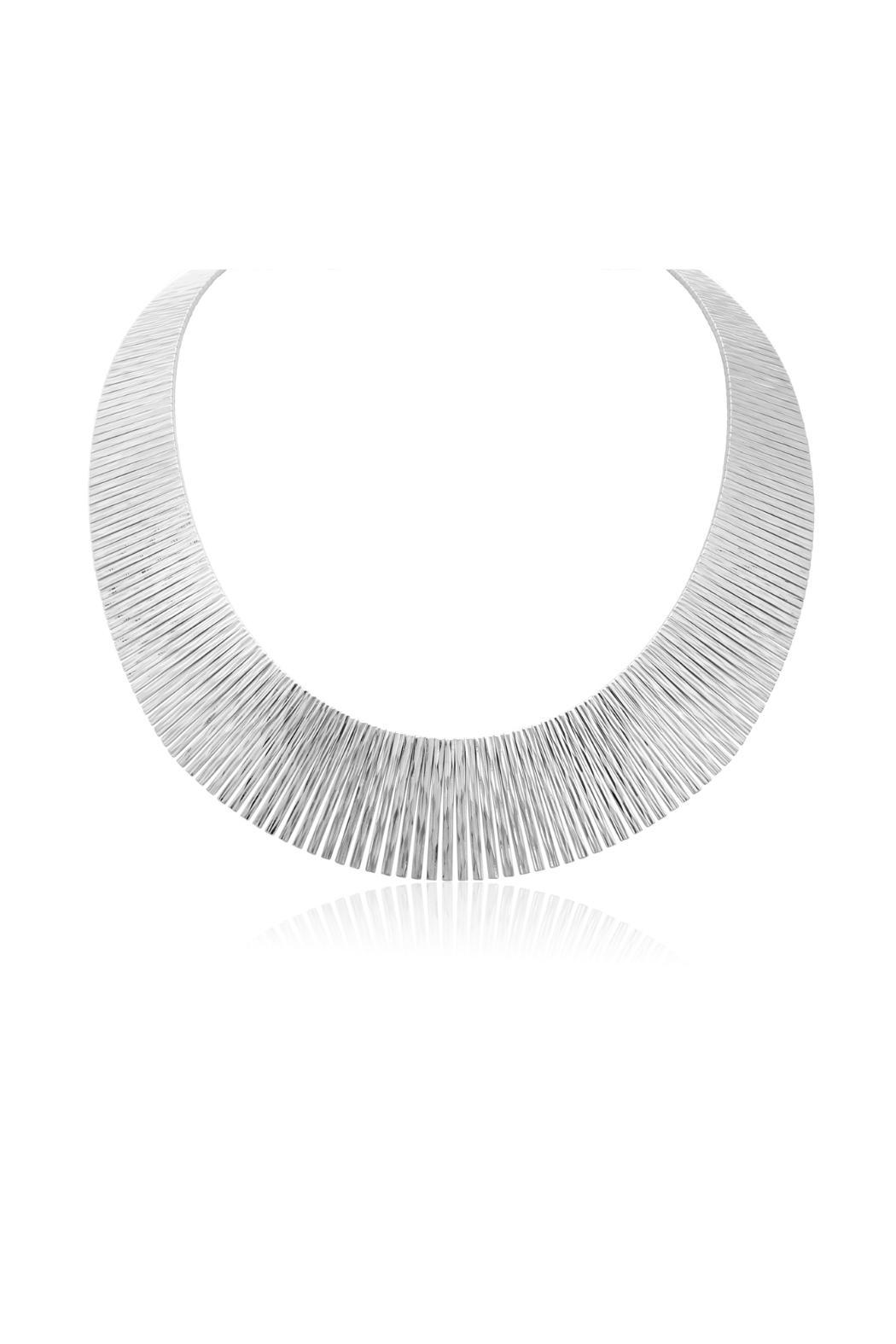 Passiana Sterling Tapered Bib Necklace - Front Full Image