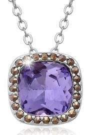 Passiana Tanzanite Halo Necklace - Product Mini Image