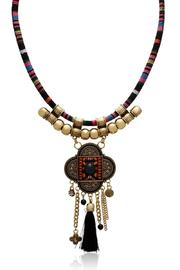 Passiana Tribal Tassel Necklace - Front cropped