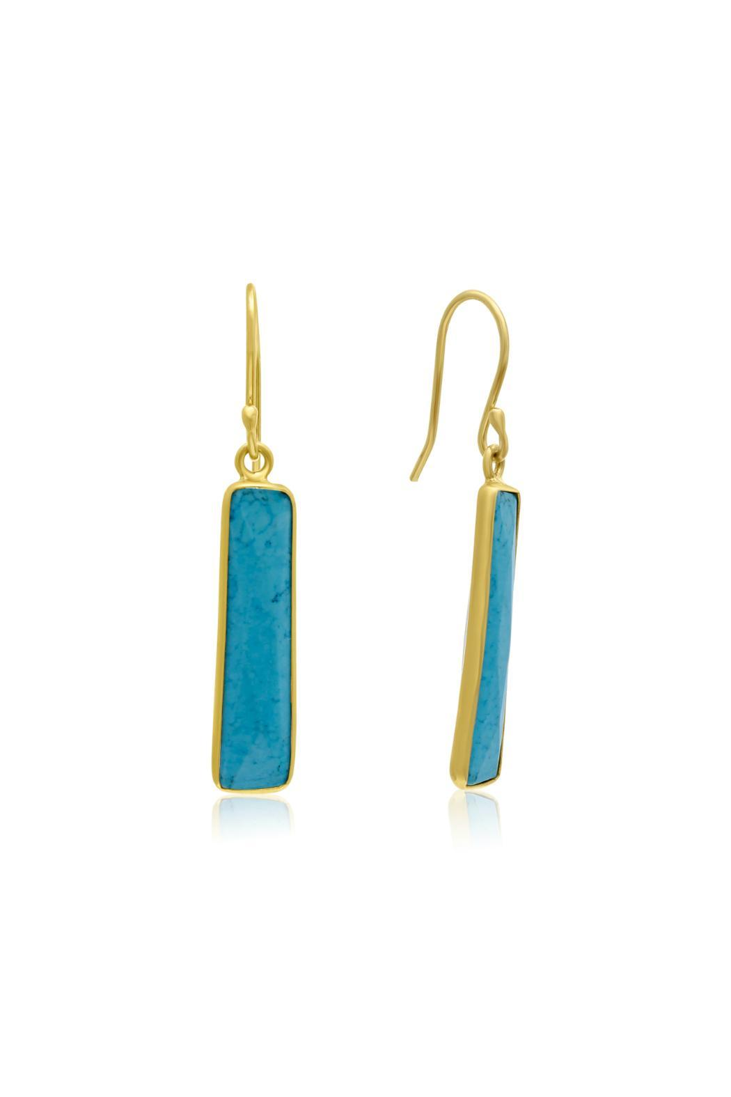 Passiana Turquoise Bar Earrings - Main Image