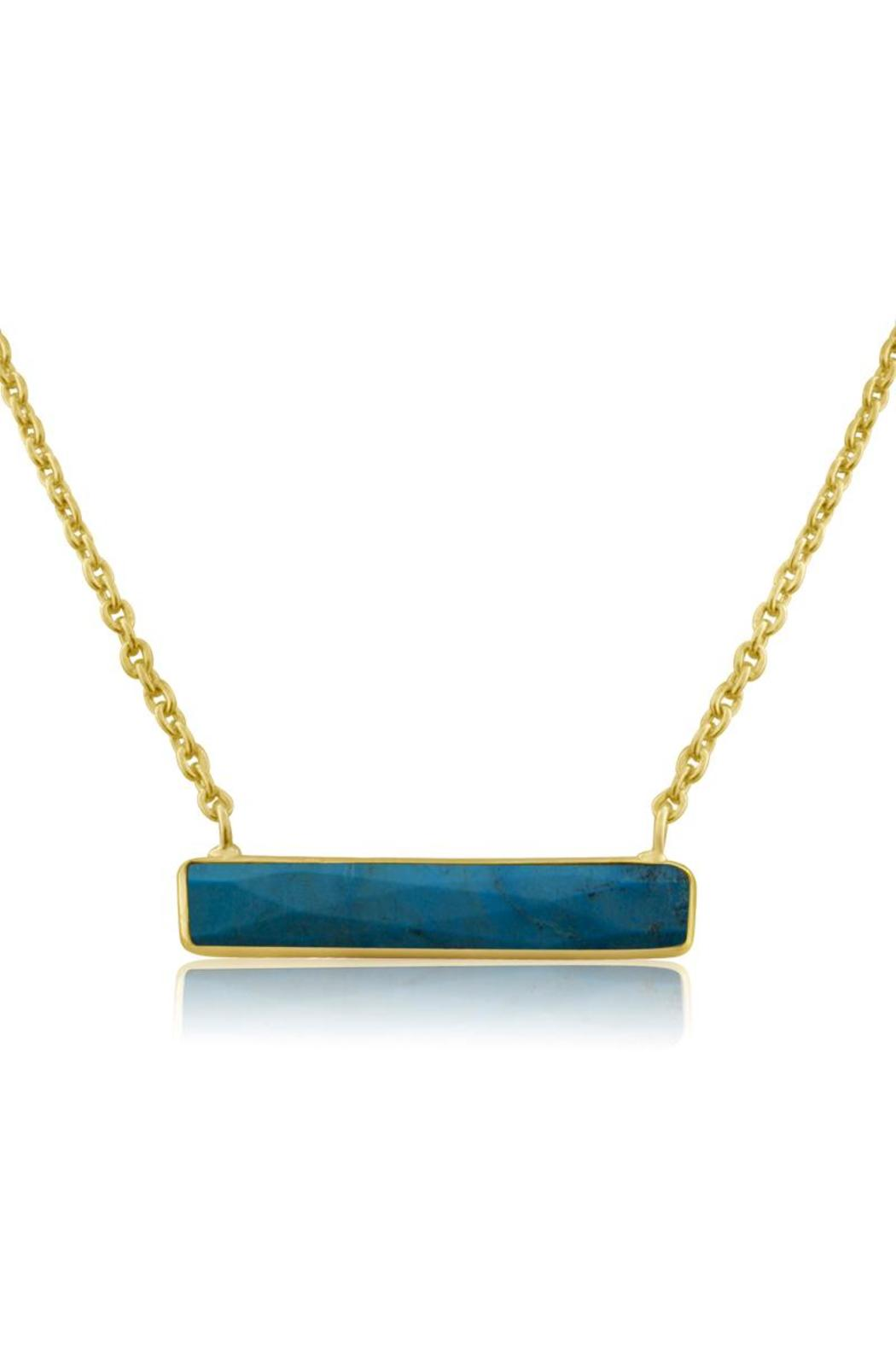 Passiana Turquoise Bar Necklace - Front Cropped Image
