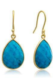 Passiana Turquoise Drop Earrings - Front cropped