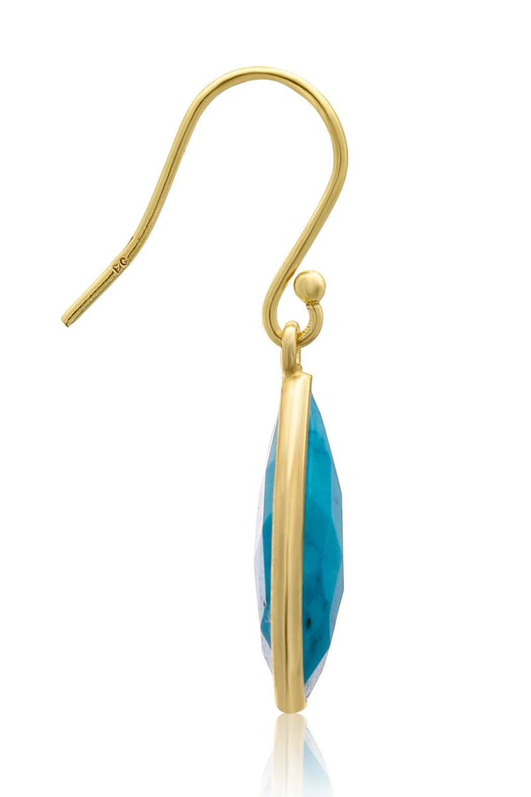 Passiana Turquoise Drop Earrings - Side Cropped Image