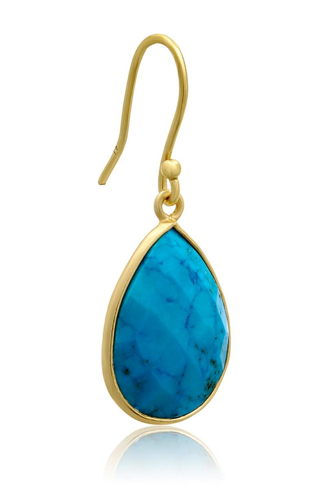 Passiana Turquoise Drop Earrings - Front Full Image