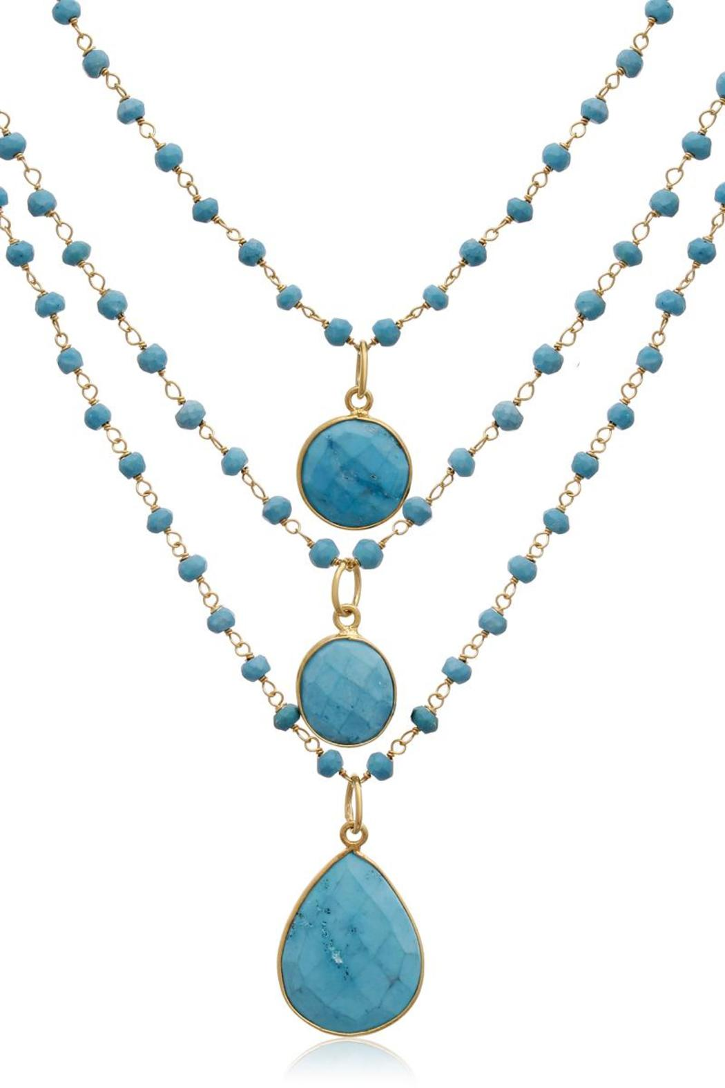 Passiana Turquoise Strand Necklace - Front Cropped Image