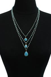 Passiana Turquoise Strand Necklace - Back cropped