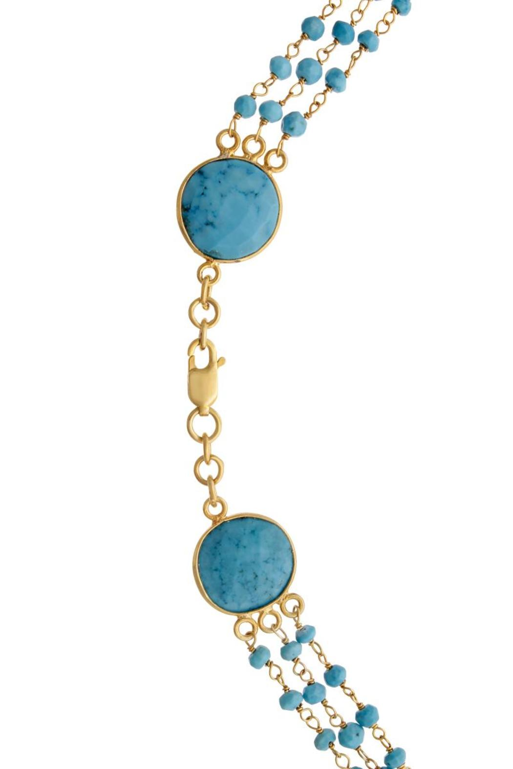 Passiana Turquoise Strand Necklace - Side Cropped Image