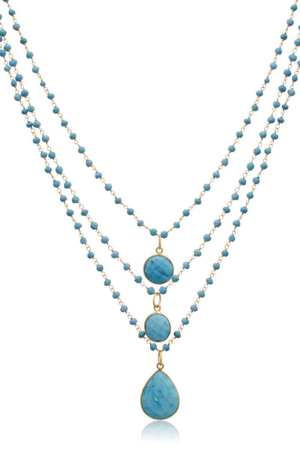 Passiana Turquoise Strand Necklace - Front Full Image