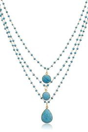 Passiana Turquoise Strand Necklace - Front full body