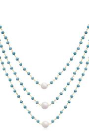 Passiana Turquoise Triple Strand - Side cropped