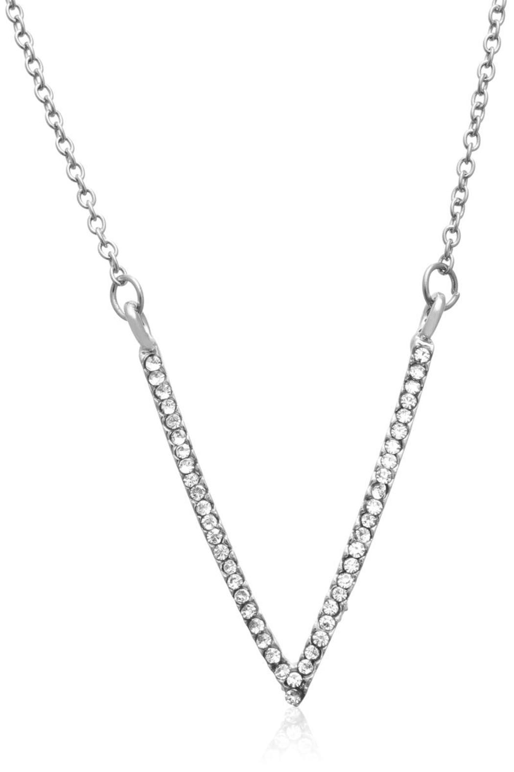 Passiana White Crystal Necklace - Front Full Image