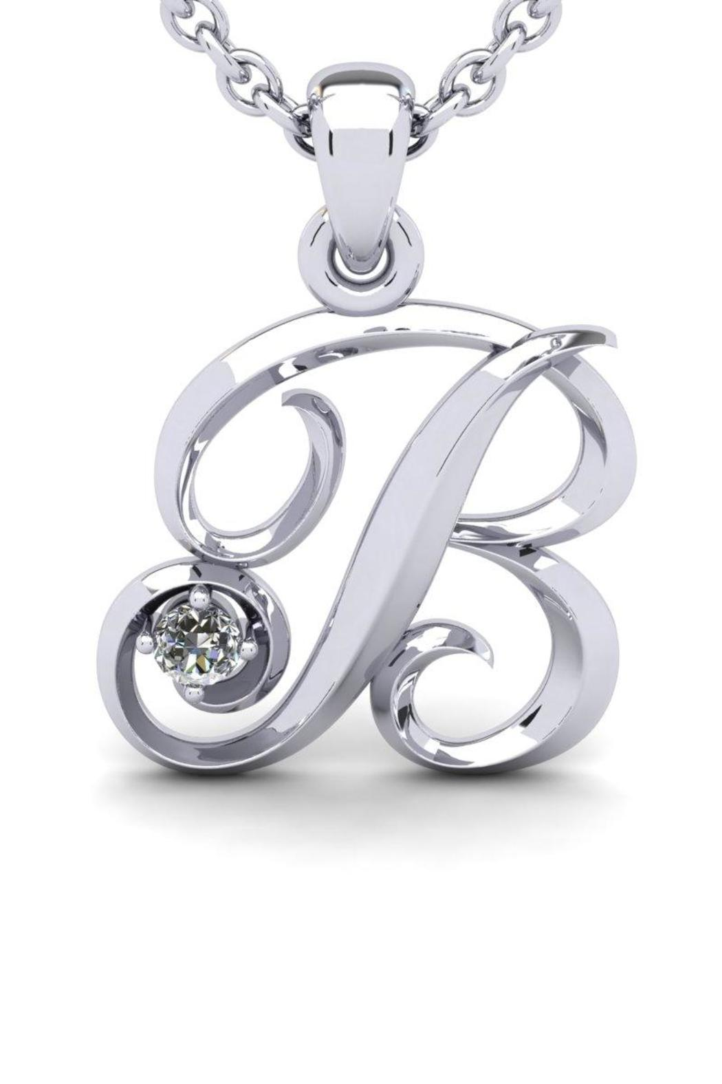 Passiana White Initial Necklace - Main Image