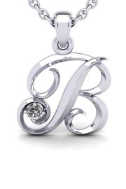 Passiana White Initial Necklace - Product Mini Image