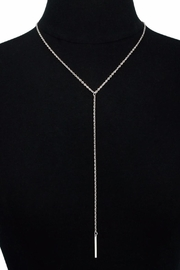 Passiana Y Bar Necklace - Front full body
