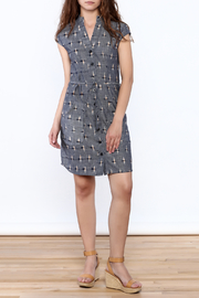 Passion Lilie Ikat Button Dress - Front full body