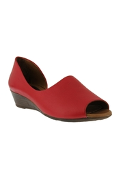 Spring Footwear Passion Red Peep-Toe - Front cropped