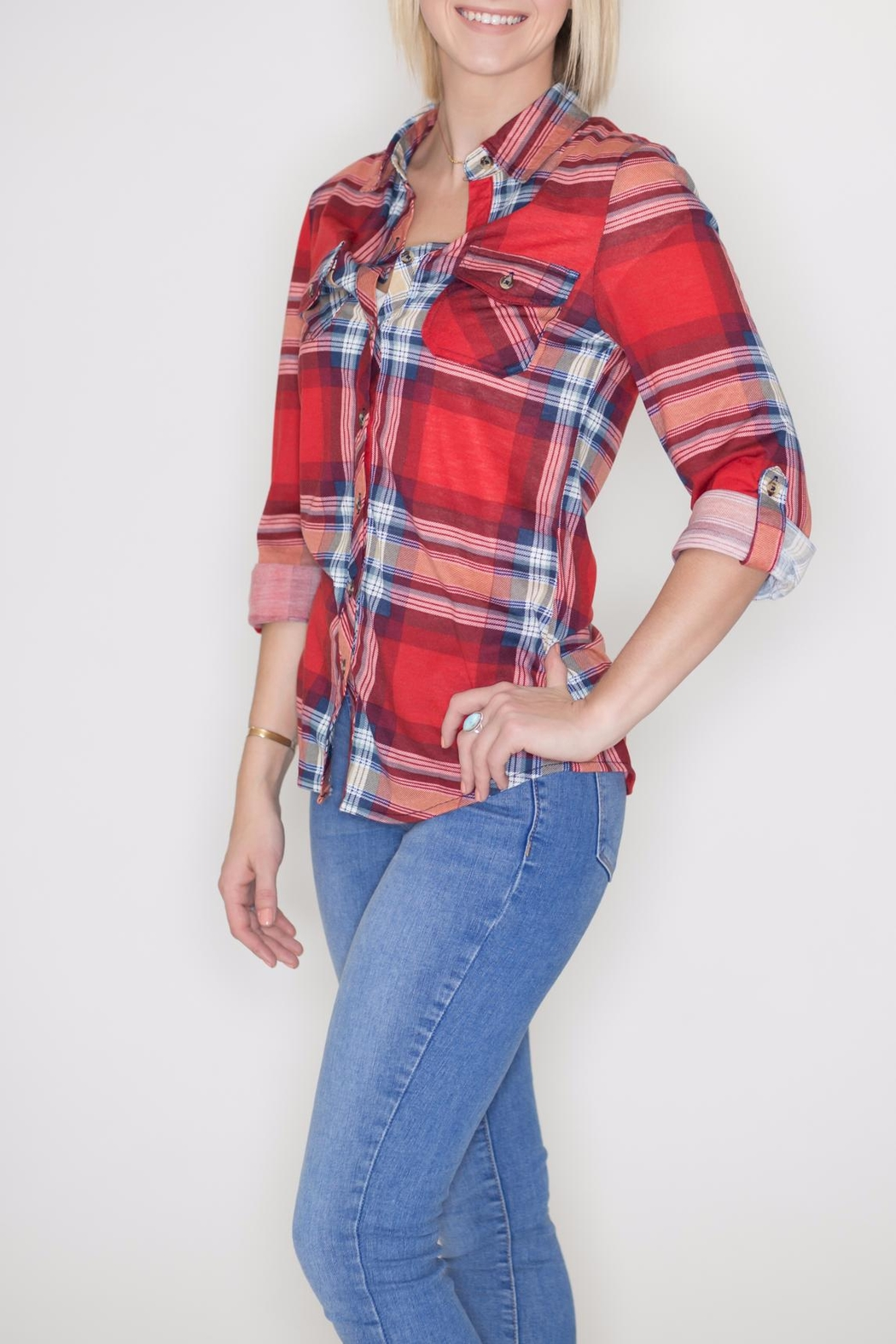 Passport Plaid Button Down - Front Full Image