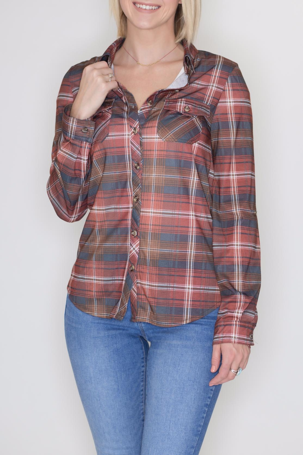 Passport Plaid Button Down - Main Image