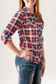 Passport Plaid Button Down - Front full body