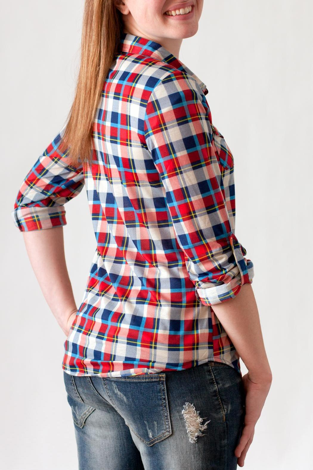 Passport Plaid Button Down - Side Cropped Image