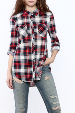 Passport Red Plaid Tunic Top - Product List Image