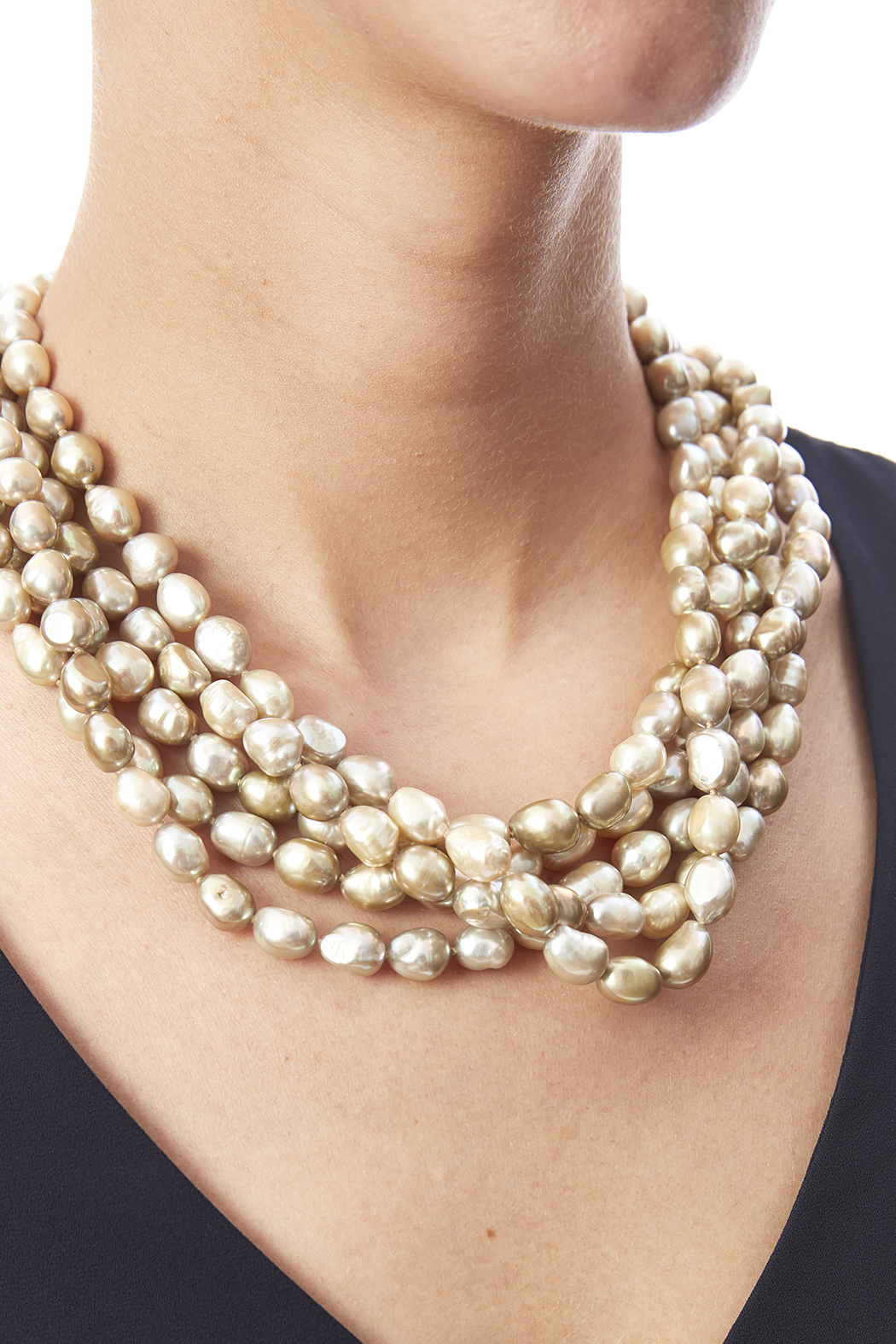Passports Pearls Baroque Pearl Necklace - Back Cropped Image