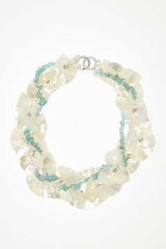 Passports Pearls M-O-P Petal Necklace - Product List Image