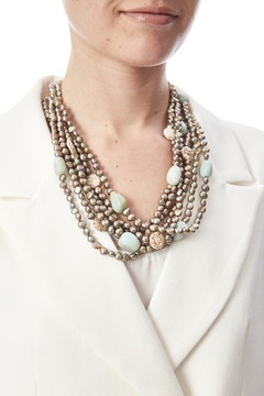Passports Pearls Mixed Stone Necklace - Alternate List Image