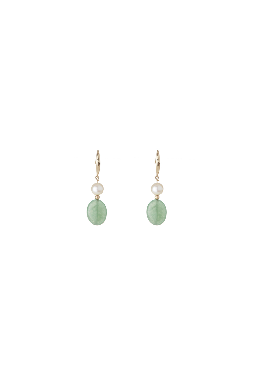 Passports Pearls Pearl Jade Earring - Front Cropped Image