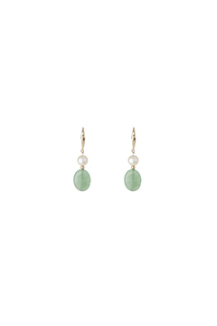 Passports Pearls Pearl Jade Earring - Alternate List Image
